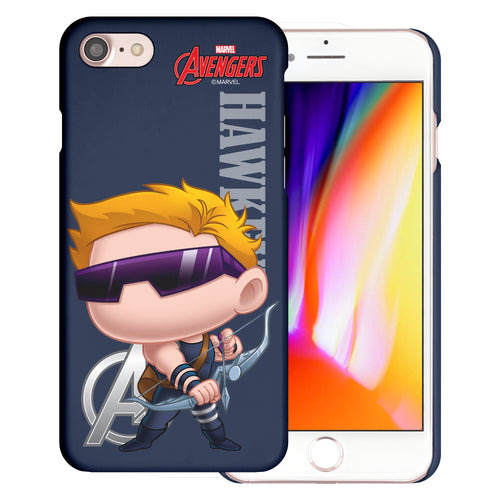 iPhone 8 Plus / iPhone 7 Plus Case Marvel Avengers [Slim Fit] Thin Hard Matte Surface Excellent Grip Cover - Mini Hawkeye