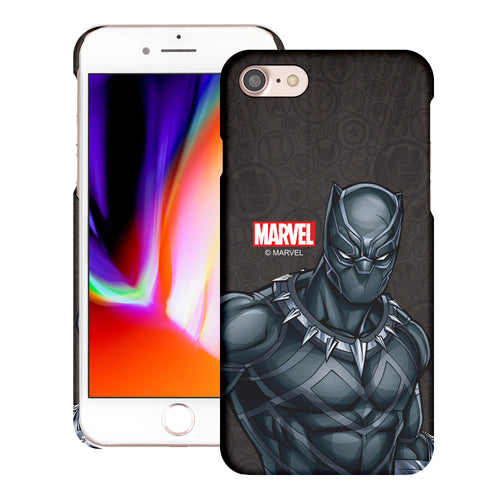 iPhone 8 Plus / iPhone 7 Plus Case Marvel Avengers [Slim Fit] Thin Hard Matte Surface Excellent Grip Cover - Illustration Black Panther