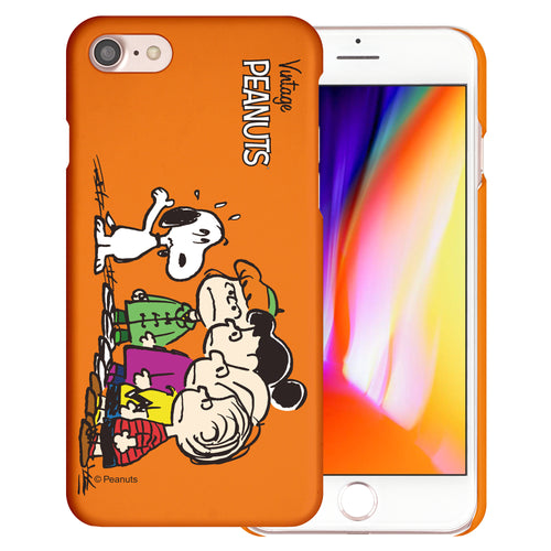 iPhone SE 2020 / iPhone 8 / iPhone 7 Case (4.7inch) [Slim Fit] PEANUTS Thin Hard Matte Surface Excellent Grip Cover - Cute Snoopy Friends