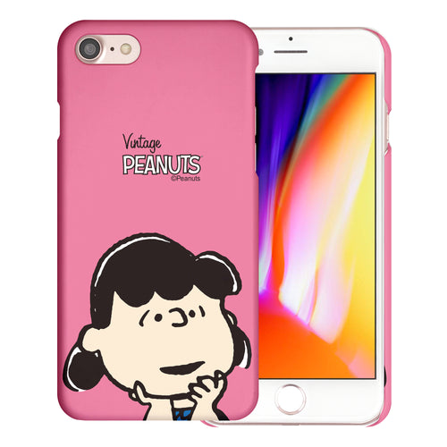 iPhone SE 2020 / iPhone 8 / iPhone 7 Case (4.7inch) [Slim Fit] PEANUTS Thin Hard Matte Surface Excellent Grip Cover - Face Lucy
