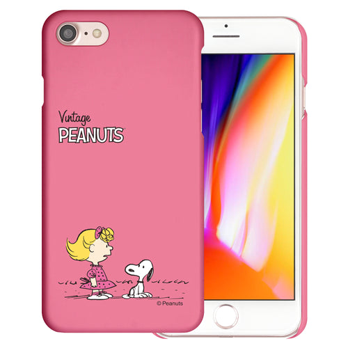 iPhone SE 2020 / iPhone 8 / iPhone 7 Case (4.7inch) [Slim Fit] PEANUTS Thin Hard Matte Surface Excellent Grip Cover - Small Snoopy Sally