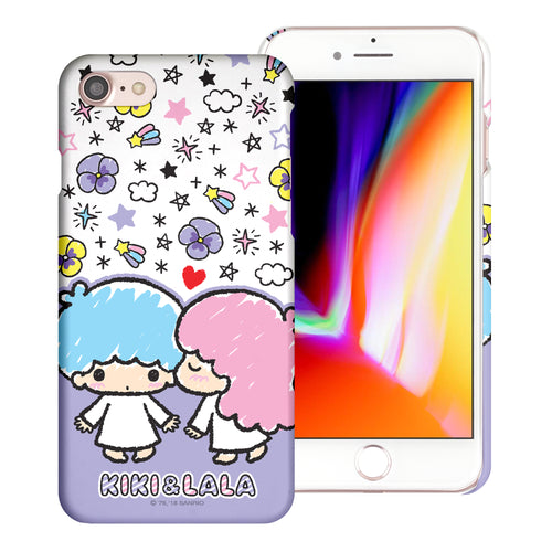 iPhone 6S / iPhone 6 Case (4.7inch) [Slim Fit] Sanrio Thin Hard Matte Surface Excellent Grip Cover - Kiss Little Twin Stars