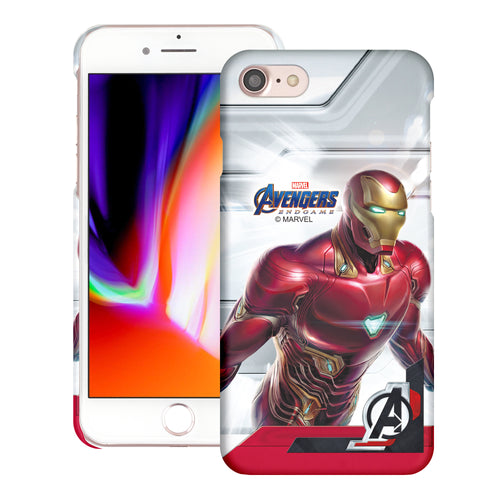 iPhone 8 Plus / iPhone 7 Plus Case Marvel Avengers [Slim Fit] Thin Hard Matte Surface Excellent Grip Cover - End Game Iron Man