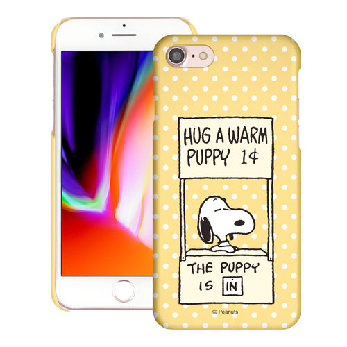 iPhone SE 2020 / iPhone 8 / iPhone 7 Case (4.7inch) [Slim Fit] PEANUTS Thin Hard Matte Surface Excellent Grip Cover - Hug Warm Snoopy