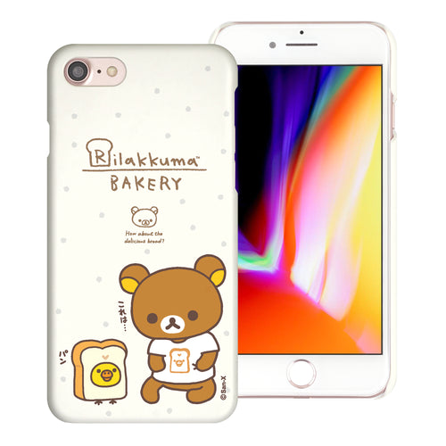 iPhone SE 2020 / iPhone 8 / iPhone 7 Case (4.7inch) [Slim Fit] Rilakkuma Thin Hard Matte Surface Excellent Grip Cover - Rilakkuma Bread