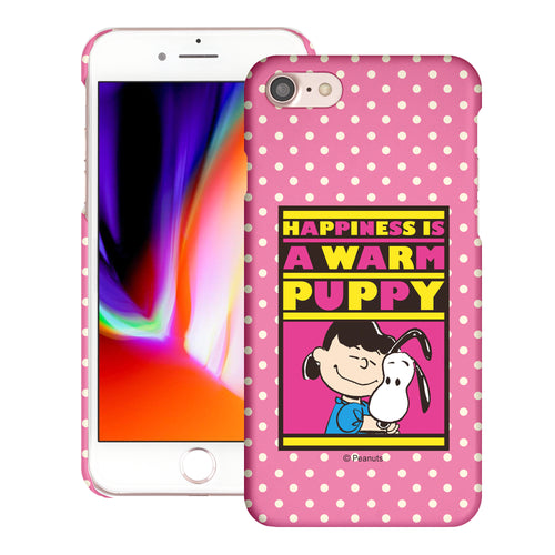iPhone SE 2020 / iPhone 8 / iPhone 7 Case (4.7inch) [Slim Fit] PEANUTS Thin Hard Matte Surface Excellent Grip Cover - Hug Lucy
