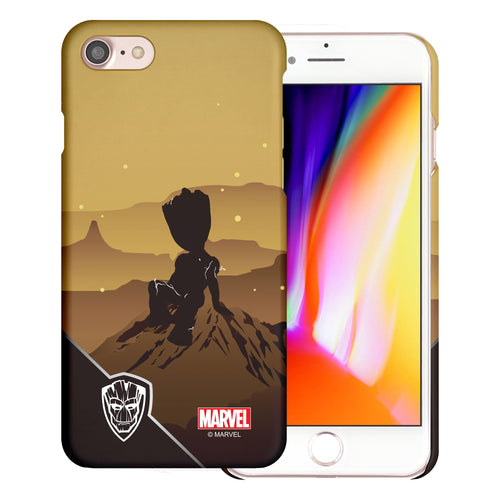 iPhone 8 Plus / iPhone 7 Plus Case Marvel Avengers [Slim Fit] Thin Hard Matte Surface Excellent Grip Cover - Shadow Groot