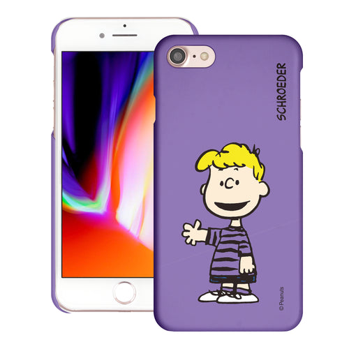 iPhone SE 2020 / iPhone 8 / iPhone 7 Case (4.7inch) [Slim Fit] PEANUTS Thin Hard Matte Surface Excellent Grip Cover - Smile Schroeder