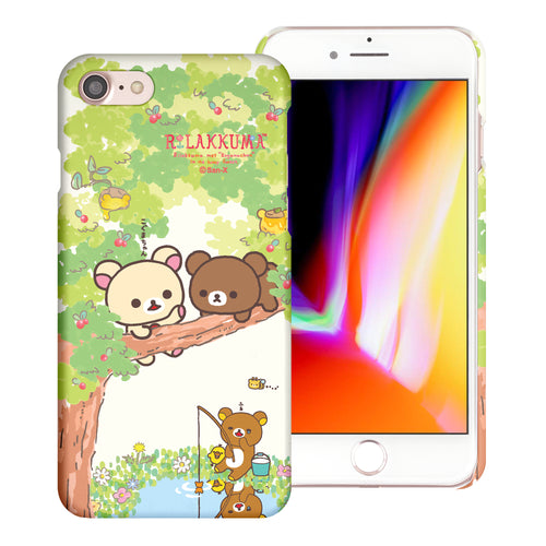 iPhone SE 2020 / iPhone 8 / iPhone 7 Case (4.7inch) [Slim Fit] Rilakkuma Thin Hard Matte Surface Excellent Grip Cover - Rilakkuma Forest