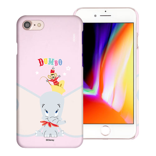 iPhone SE 2020 / iPhone 8 / iPhone 7 Case (4.7inch) [Slim Fit] Disney Dumbo Thin Hard Matte Surface Excellent Grip Cover - Dumbo Overhead