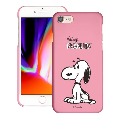 iPhone 6S / iPhone 6 Case (4.7inch) [Slim Fit] PEANUTS Thin Hard Matte Surface Excellent Grip Cover - Simple Snoopy