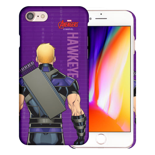 iPhone 8 Plus / iPhone 7 Plus Case Marvel Avengers [Slim Fit] Thin Hard Matte Surface Excellent Grip Cover - Back Hawkeye