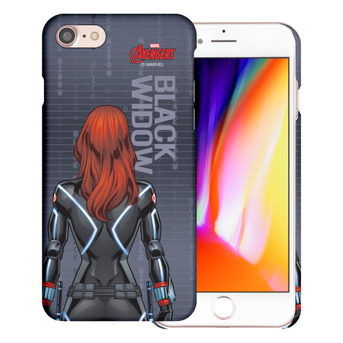 iPhone 8 Plus / iPhone 7 Plus Case Marvel Avengers [Slim Fit] Thin Hard Matte Surface Excellent Grip Cover - Back Black Widow
