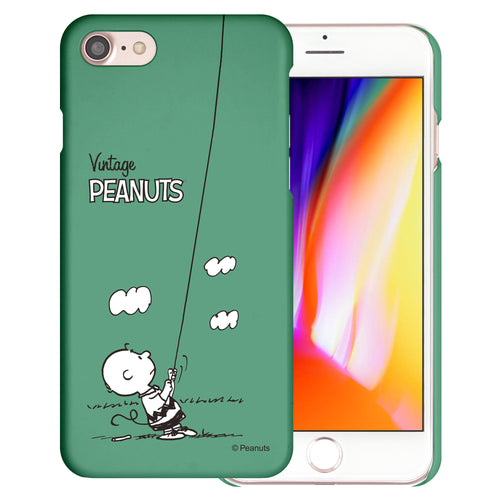 iPhone 6S / iPhone 6 Case (4.7inch) [Slim Fit] PEANUTS Thin Hard Matte Surface Excellent Grip Cover - Small Charlie Brown