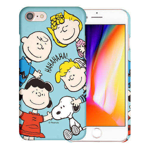 iPhone SE 2020 / iPhone 8 / iPhone 7 Case (4.7inch) [Slim Fit] PEANUTS Thin Hard Matte Surface Excellent Grip Cover - Peanuts Friends Face