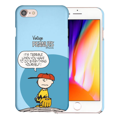 iPhone 6S / iPhone 6 Case (4.7inch) [Slim Fit] PEANUTS Thin Hard Matte Surface Excellent Grip Cover - Cartoon Charlie Brown