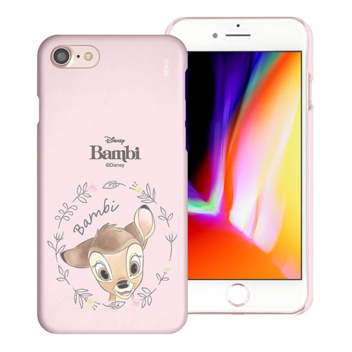 iPhone SE 2020 / iPhone 8 / iPhone 7 Case (4.7inch) [Slim Fit] Disney Bambi Thin Hard Matte Surface Excellent Grip Cover - Face Bambi