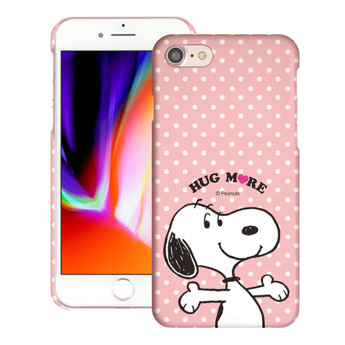 iPhone SE 2020 / iPhone 8 / iPhone 7 Case (4.7inch) [Slim Fit] PEANUTS Thin Hard Matte Surface Excellent Grip Cover - Hug Snoopy