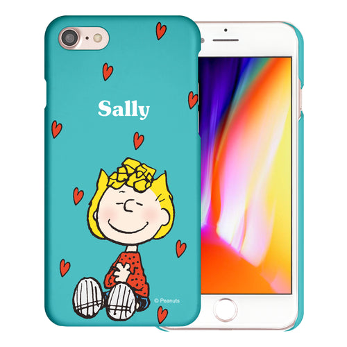 iPhone SE 2020 / iPhone 8 / iPhone 7 Case (4.7inch) [Slim Fit] PEANUTS Thin Hard Matte Surface Excellent Grip Cover - Sally Heart Sit