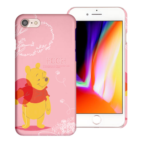 iPhone 5S / iPhone 5 / iPhone SE (2016) Case [Slim Fit] Disney Pooh Thin Hard Matte Surface Excellent Grip Cover - Balloon Pooh Ground