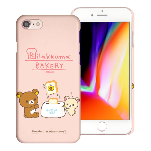 iPhone SE 2020 / iPhone 8 / iPhone 7 Case (4.7inch) [Slim Fit] Rilakkuma Thin Hard Matte Surface Excellent Grip Cover - Rilakkuma Toast