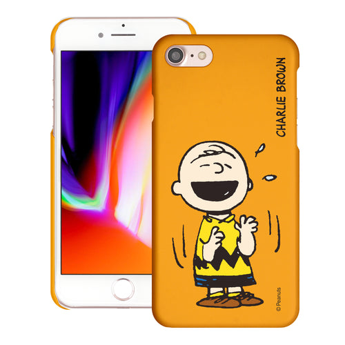 iPhone SE 2020 / iPhone 8 / iPhone 7 Case (4.7inch) [Slim Fit] PEANUTS Thin Hard Matte Surface Excellent Grip Cover - Smile Charlie Brown