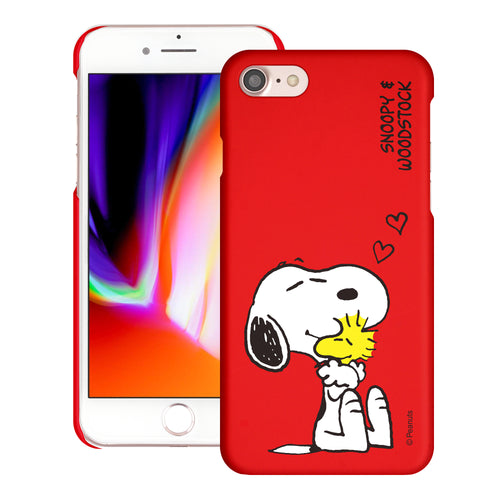 iPhone 6S / iPhone 6 Case (4.7inch) [Slim Fit] PEANUTS Thin Hard Matte Surface Excellent Grip Cover - Smile Snoopy