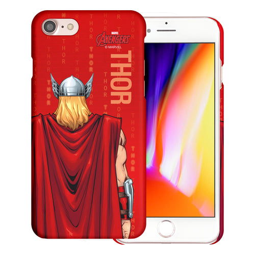 iPhone 8 Plus / iPhone 7 Plus Case Marvel Avengers [Slim Fit] Thin Hard Matte Surface Excellent Grip Cover - Back Thor