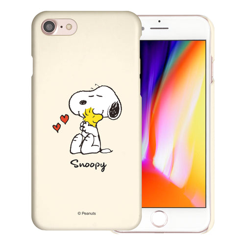 iPhone SE 2020 / iPhone 8 / iPhone 7 Case (4.7inch) [Slim Fit] PEANUTS Thin Hard Matte Surface Excellent Grip Cover - Snoopy Woodstock Hug