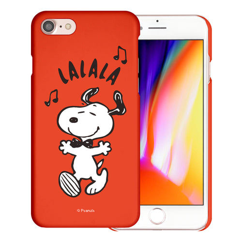 iPhone SE 2020 / iPhone 8 / iPhone 7 Case (4.7inch) [Slim Fit] PEANUTS Thin Hard Matte Surface Excellent Grip Cover - Snoopy Lalala