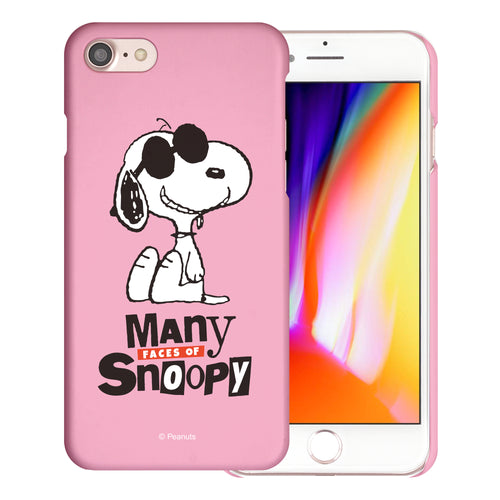 iPhone 6S / iPhone 6 Case (4.7inch) [Slim Fit] PEANUTS Thin Hard Matte Surface Excellent Grip Cover - Snoopy Face Baby pink