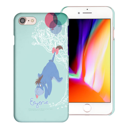 iPhone SE 2020 / iPhone 8 / iPhone 7 Case (4.7inch) [Slim Fit] Disney Pooh Thin Hard Matte Surface Excellent Grip Cover - Balloon Eeyore