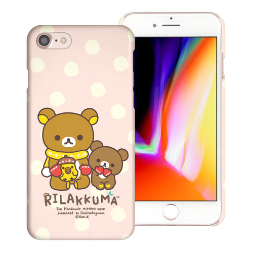 iPhone SE 2020 / iPhone 8 / iPhone 7 Case (4.7inch) [Slim Fit] Rilakkuma Thin Hard Matte Surface Excellent Grip Cover - Chairoikoguma Sit
