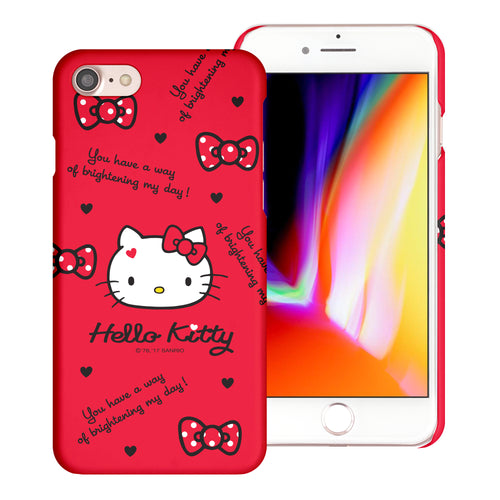 iPhone 6S / iPhone 6 Case (4.7inch) [Slim Fit] Sanrio Thin Hard Matte Surface Excellent Grip Cover - Icon Hello Kitty