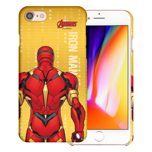 iPhone 8 Plus / iPhone 7 Plus Case Marvel Avengers [Slim Fit] Thin Hard Matte Surface Excellent Grip Cover - Back Iron Man