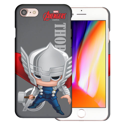 iPhone 8 Plus / iPhone 7 Plus Case Marvel Avengers [Slim Fit] Thin Hard Matte Surface Excellent Grip Cover - Mini Thor