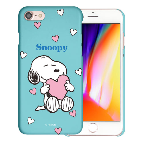 iPhone 6S / iPhone 6 Case (4.7inch) [Slim Fit] PEANUTS Thin Hard Matte Surface Excellent Grip Cover - Snoopy Big Heart Mint