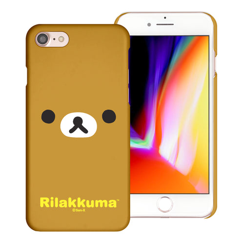 iPhone SE 2020 / iPhone 8 / iPhone 7 Case (4.7inch) [Slim Fit] Rilakkuma Thin Hard Matte Surface Excellent Grip Cover - Face Rilakkuma