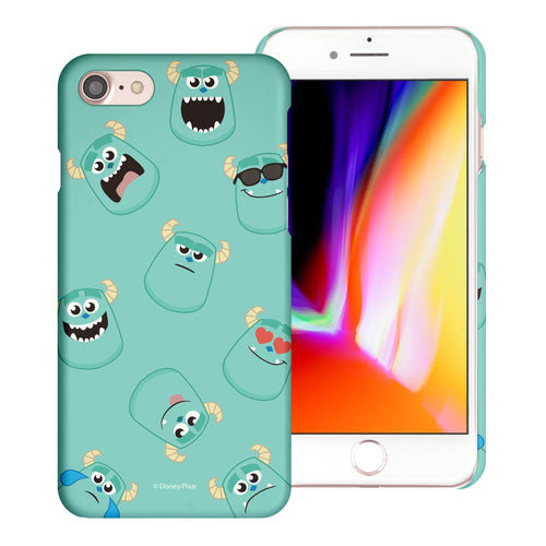 iPhone 8 Plus / iPhone 7 Plus Case [Slim Fit] Monsters University inc Thin Hard Matte Surface Excellent Grip Cover - Pattern Sulley