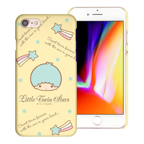iPhone 6S / iPhone 6 Case (4.7inch) [Slim Fit] Sanrio Thin Hard Matte Surface Excellent Grip Cover - Icon Little Twin Stars Kiki