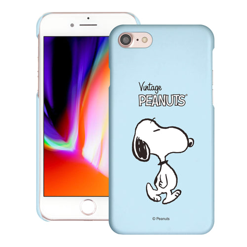 iPhone SE 2020 / iPhone 8 / iPhone 7 Case (4.7inch) [Slim Fit] PEANUTS Thin Hard Matte Surface Excellent Grip Cover - Vivid Snoopy Walking