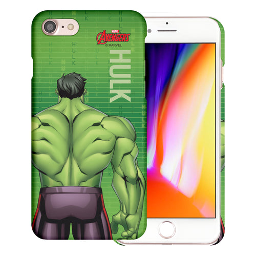 iPhone 8 Plus / iPhone 7 Plus Case Marvel Avengers [Slim Fit] Thin Hard Matte Surface Excellent Grip Cover - Back Hulk