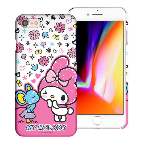 iPhone 6S / iPhone 6 Case (4.7inch) [Slim Fit] Sanrio Thin Hard Matte Surface Excellent Grip Cover - Kiss My Melody