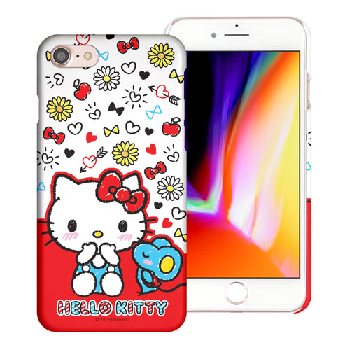 iPhone 6S / iPhone 6 Case (4.7inch) [Slim Fit] Sanrio Thin Hard Matte Surface Excellent Grip Cover - Kiss Hello Kitty