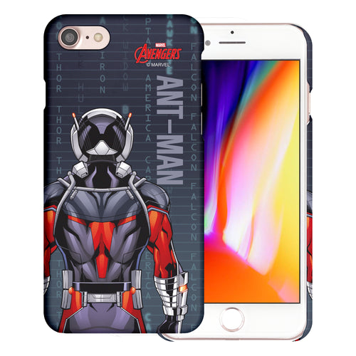 iPhone 8 Plus / iPhone 7 Plus Case Marvel Avengers [Slim Fit] Thin Hard Matte Surface Excellent Grip Cover - Back Ant Man