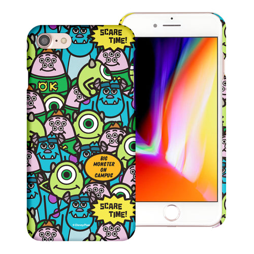 iPhone 8 Plus / iPhone 7 Plus Case [Slim Fit] Monsters University inc Thin Hard Matte Surface Excellent Grip Cover - Pattern Face