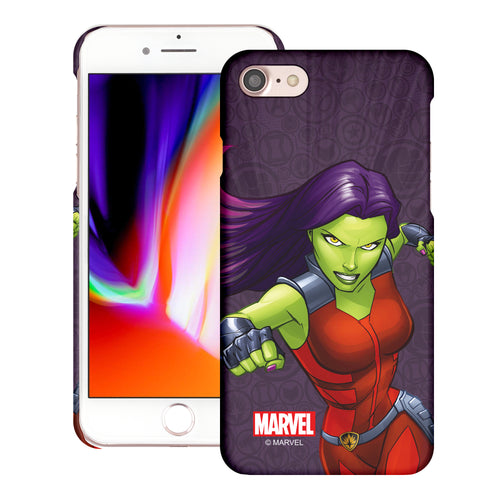 iPhone 8 Plus / iPhone 7 Plus Case Marvel Avengers [Slim Fit] Thin Hard Matte Surface Excellent Grip Cover - Illustration Gamora