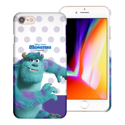 iPhone 8 Plus / iPhone 7 Plus Case [Slim Fit] Monsters University inc Thin Hard Matte Surface Excellent Grip Cover - Movie Sulley