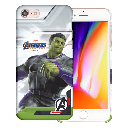 iPhone 8 Plus / iPhone 7 Plus Case Marvel Avengers [Slim Fit] Thin Hard Matte Surface Excellent Grip Cover - End Game Hulk