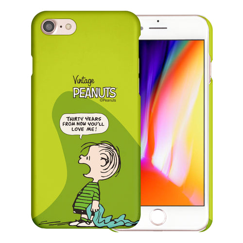 iPhone SE 2020 / iPhone 8 / iPhone 7 Case (4.7inch) [Slim Fit] PEANUTS Thin Hard Matte Surface Excellent Grip Cover - Cartoon Linus